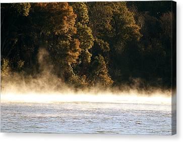 Fog On The Catawba Canvas Print