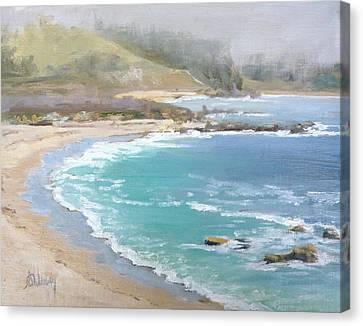 Fog On The Coast Canvas Print by Sharon Weaver