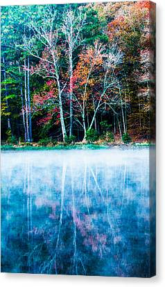 Autumn Leaf Canvas Print - Fog On The Lake by Parker Cunningham