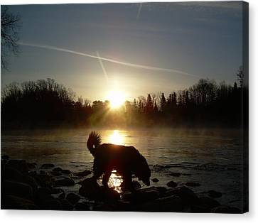 Canvas Print featuring the photograph Fog Over Mississippi River by Kent Lorentzen