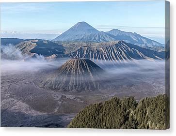 fog over Mount Bromo - Java Canvas Print by Joana Kruse