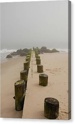 Fog Sits On Bay Head Beach - Jersey Shore Canvas Print