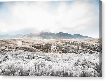 Fog Snow And Ice Landscape Canvas Print
