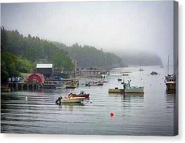 Foggy Afternoon In Mackerel Cove  Canvas Print by Rick Berk