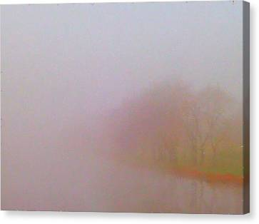 Foggy Autumn Morning Canvas Print by Tom Tunnicliff