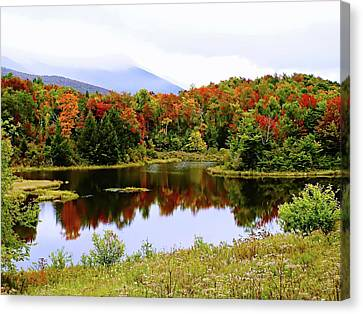 Foggy Day In Vermont Canvas Print by Joseph Hendrix