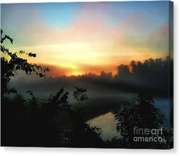 Foggy Edges Sunrise Canvas Print