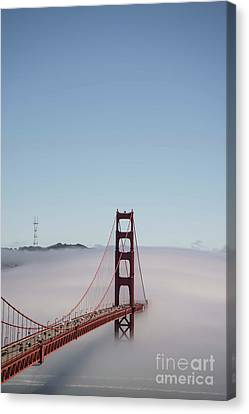 Canvas Print featuring the photograph Foggy Golden Gate by David Bearden