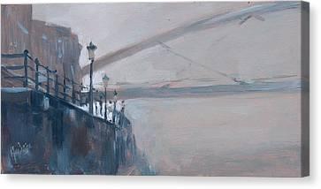 Foggy Hoeg Canvas Print by Nop Briex