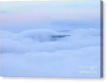 Canvas Print featuring the photograph Foggy Layers by Kerri Farley