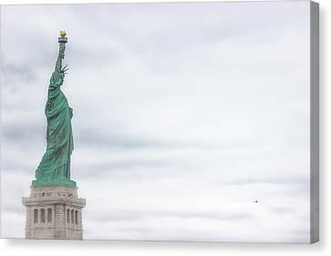 Foggy Liberty Canvas Print by Martin Newman