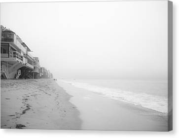 foggy Malibu Beach  Canvas Print by Ralf Kaiser