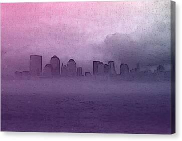 Foggy Manhatten Canvas Print