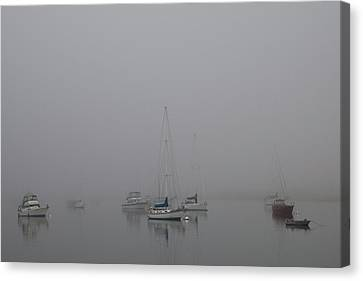 Canvas Print featuring the photograph Waiting Out The Fog by David Chandler