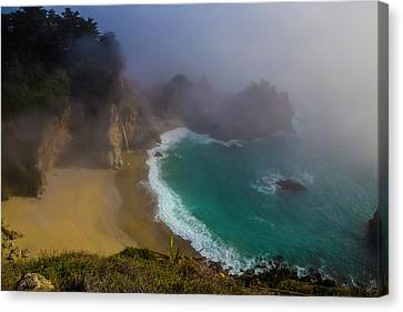 Foggy Mcway Falls Cove Canvas Print
