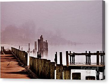 Foggy Morn Canvas Print by Clayton Bruster