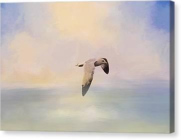 Foggy Morning At Sea Canvas Print