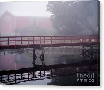 Foggy Morning At The Bridge Canvas Print