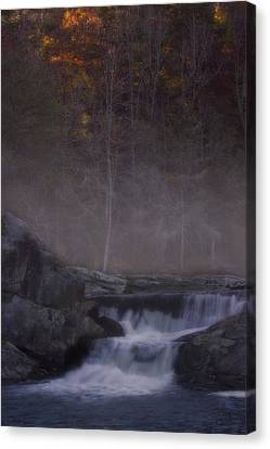 Canvas Print featuring the photograph Foggy Morning At Linville Falls by Ellen Heaverlo