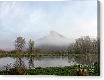 Foggy Morning Bluff Canvas Print