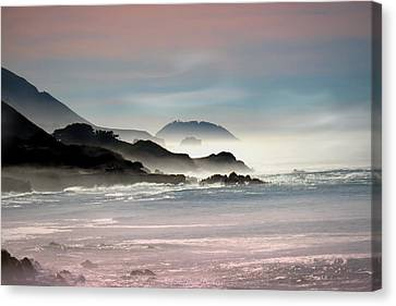 Foggy Morning In Big Sur Ca Two Canvas Print by Joyce Dickens
