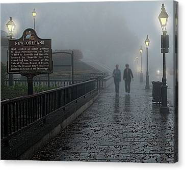 Foggy Morning In New Orleans Canvas Print by Mitch Spence