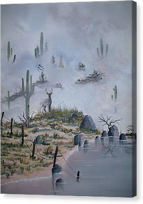 Foggy Morning Canvas Print by Patrick Trotter