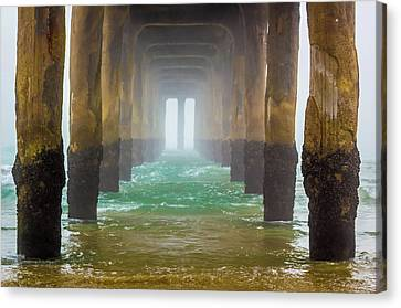 Canvas Print featuring the photograph Coastal Fog by April Reppucci