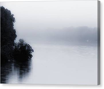 Foggy River Canvas Print by Bill Cannon