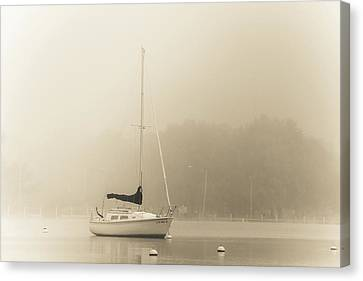 Canvas Print featuring the photograph Foggy Sail by Joel Witmeyer