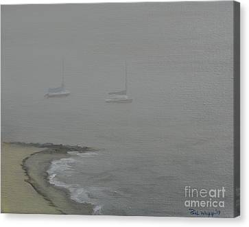 Foggy Shore Canvas Print by Paul Walsh