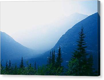 Canvas Print featuring the photograph Foggy Valley by Jack G  Brauer
