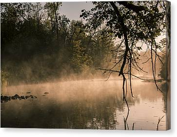 Foggy Water Canvas Print by Annette Berglund