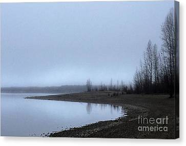 Canvas Print featuring the photograph Foggy Water by Victor K