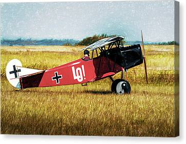 Canvas Print featuring the photograph Fokker D Vii by James Barber