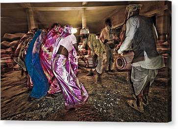 Folk Dance Canvas Print by Hitendra SINKAR