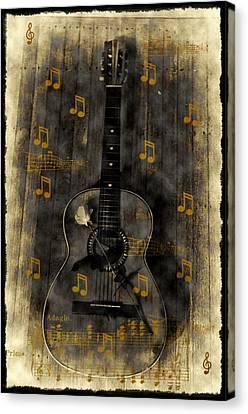 Folk Guitar Canvas Print by Bill Cannon