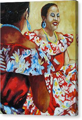 Folklorica II Canvas Print by Monica Linville