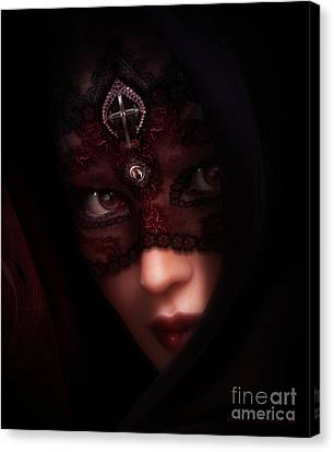 Beautiful Face Canvas Print - Follow Me Gothic Romance by Shanina Conway