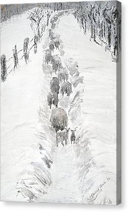 Follow The Flock Canvas Print