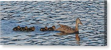 Follow The Leader Canvas Print by Sharon Farber