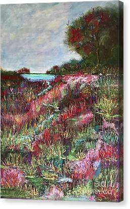 Canvas Print featuring the pastel Follow The Whispers by Vickie Scarlett-Fisher