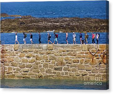 Sennen Cove Canvas Print - Follow The Yellow Brick Road by Terri Waters
