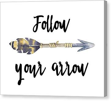 Follow Your Arrow Canvas Print by Jaime Friedman