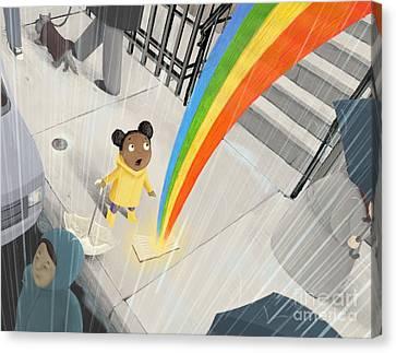 Ipad Design Canvas Print - Follow Your Rainbow by Michael Ciccotello