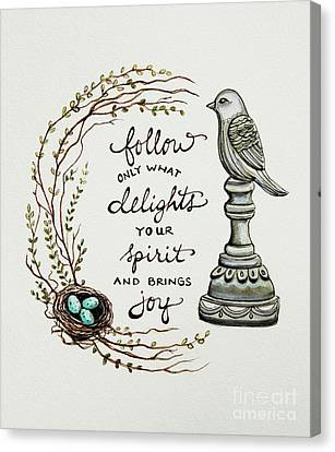 Follow Your Spirit Canvas Print by Elizabeth Robinette Tyndall