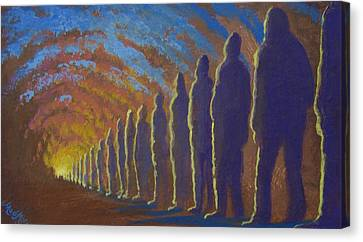 Followers Of The Light Canvas Print by Marjorie Hause