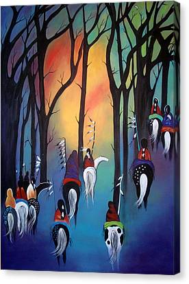 Following The Trail Of The Ancestors Canvas Print