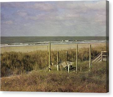 Folly Beach In The Morning Canvas Print