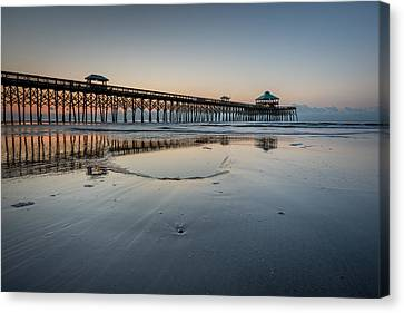 Folly Beach South Carolina Pier Canvas Print